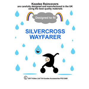 RAINCOVER Koodee designed to fit SILVERCROSS WAYFARER SEAT UNIT Made in UK BNIP