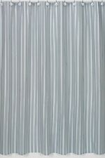 BLUE BROWN MODERN STRIPE SPA HOTEL BATH FABRIC SHOWER CURTAIN SWEET JOJO DESIGNS