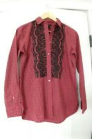NEW J. Crew Boy Shirt in Embellished Plaid / Рубашка..Size 2.