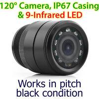 28mm Infrared IR CCD Waterproof Towbar Bumper Car Reversing Camera Parking OZ