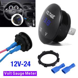 Volt Gauge Meter Voltage LED Digital Display DC 12V-24 Car SUV Panel Voltmeter