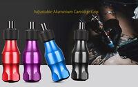 Pro 4 Colors Adjustable Aluminium Cartridge Grip for Rotary Tattoo Motor Machine