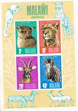 Malawi Fauna African Wild Animals Souvenir Sheet 1975 MLH