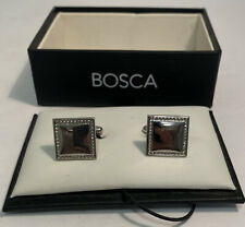 Bosca Men's Polished Silvertone Square Cuff Links