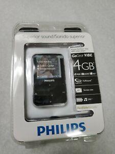 New - Philips GoGear Vibe 4GB MP3 FLAC WMA Video Player (Black) SA2VBE04KW/17
