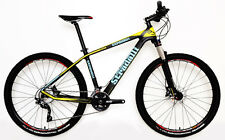 "M 17"" STRADALLI CARBON FIBER HARDTAIL BICYCLE MTB BIKE BLUE YELLOW 27.5"" 650B"