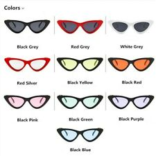 Retro Triangle Cat Eyes Sunglasses Sun Shade Glasses Girl Women Ladies Trendy UK