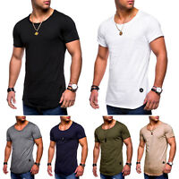 Men Casual Slim Fit Crew Neck T-shirt Short Sleeve Muscle Tee Basic Tops Summer