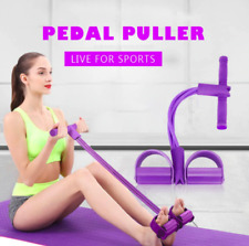 Fitness Gum 4 Tube Resistance Bands Pedal Exerciser Gym Accessories For Women