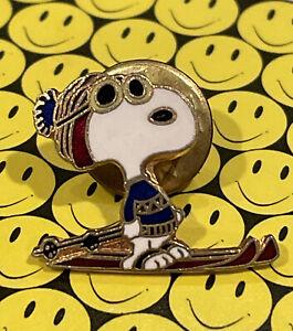 "Vintage  ""Snoopy Skiing Pin""  Collectible Joe Cool"