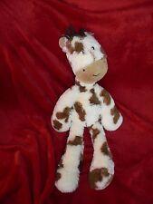 Doudou Jellycat Peluche Girafe Crème Tache Marron Crinière Velours 43 cm