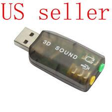 USB 2.0 5.1CH 3D Audio Sound Card Adapter Headphone/MIC US Seller