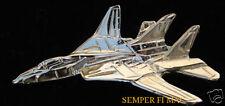 F-14 TOMCAT HAT LAPEL PIN UP MADE IN US NAVY GOLD GRUMMAN PILOT CREW GIFT WOW