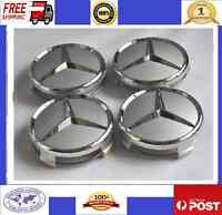 CHROME WHEEL LOGO CENTER HUB CAP fit MOST MERCEDES BENZ A B C E G M  R S CLASS