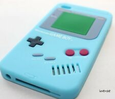 iPod Touch 4th Gen - SOFT SILICONE RUBBER GUMMY CASE COVER BABY BLUE GAMEBOY