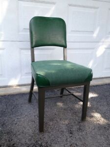 Vintage Steel Emeco Industrial Upholstered Chair