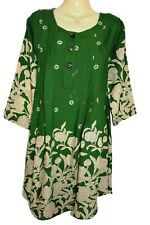 Green Print Dress Kurta Shalwar Kameez Trouser Suit Bollywood Pakistan Peplum