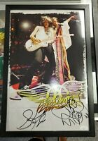 Aerosmith 11x14 Photo signed and Framed by Steven Tyler & Joe Perry JSA