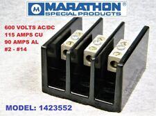 Marathon 3 Position Heavy Duty Terminal Strip Block Model 1423552