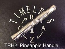 Timeless Razor: Safety Razor Handle:  TRH2: 14mm dia x 100 MM LONG: PINEAPPLE