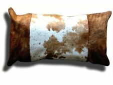"Cowhide Pillow Cover Cushion Cow Hide Hair on cover 12"" x 24""."