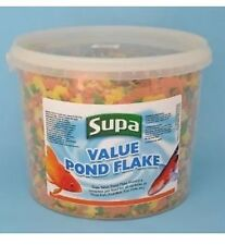Supa Value Pond Flake 3ltr Tub Complete Food For Goldfish Koi Orfe Etc