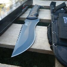 """NEW! 11.5"""" Mtech Black Military G10 Tactical Combat Bowie Knife w/ Molle Sheath"""