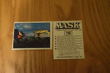 Mask Panini sticker 1986 ( M.A.S.K.  Kenner parker toys ) number 116