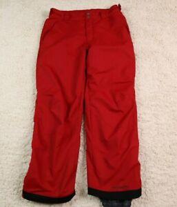 Columbia Mens Medium Regular Snow Pants Artic Trip Omni Tech Ski Red