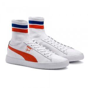 PUMA - CLYDE SOCK NYC - 364948 04 - Men's Shoes - White Orange Blue - Size 10