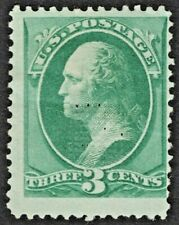 "US # 158e *MINT OG H* { 3c WASHINGTON ""J GRILL"" } ""SCARCE VAR OF 1873 CV$ 500.00"