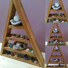 Fatto a mano in Legno Triangolo Scaffale per la visualizzazione di ornamenti e cristalli ecc
