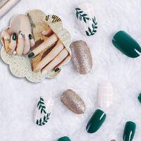 24x nail cheap fashion fake nails false tips full acrylic french art designer UK