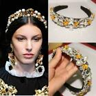 Hot Runway Occident Vogue Ladies Baroque Pearl Diamond Headpieces Hairpin Party