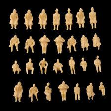 100pcs Model Train Unpainted Seated People Passangers Figures 1:87 Scale HO