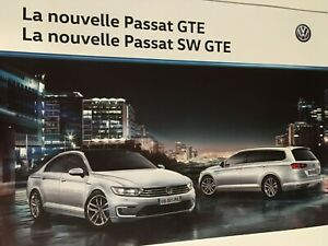 Catalogue / Brochure VOLKSWAGEN PASSAT GTE / SW GTE de 2016