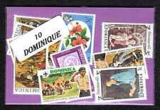 Dominique - Dominica 10 timbres différents