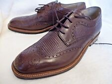 M&S Luxury Collection Leather Contrast Sole Brogue Shoe Lizard Effect 6.5 EUR 40