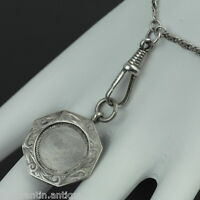 Vintage 1930 sterling silver pocket watch chain pendant Bham charm solid gift