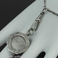 VINTAGE 1930 Argento Sterling Catena Orologio da taschino Ciondolo bham fascino solido Regalo