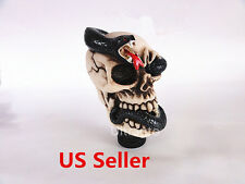 MT Speed Human Wicked Carved Skull Head Snake Viper Stick Shift Knob Shifter