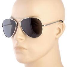 Pilot Sunglasses Black Vintage New Men Women Fashion Metal Frame Retro