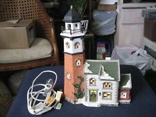 Santas Workbench Collection Porcelain House ~ Cape May Lighthouse~ 1999