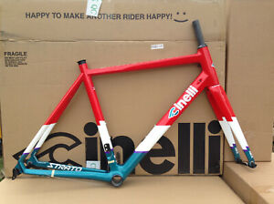 Cinelli Strato Faster Wrapped in Red Size XS (46cm) Carbon Frameset New