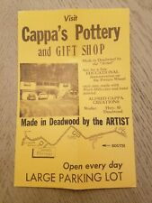 1972 Alfred Cappa's Pottery Gift Shop Highway 85 Deadwood South Dakota Ad Flyer
