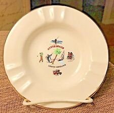 MYRTLE BEACH SC ASHTRAY Vacation Getaway Vintage 1950's Fishing Golf Camping