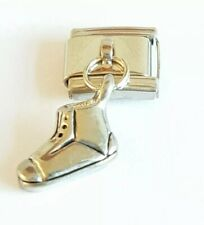 Dangly Silver Boot for Italian Charm Bracelet Charms Link
