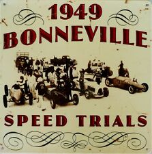 1949 BONNEVILLE SPEED TRIALS  W 295 mm x H 295 mm ALL WEATHER METAL SIGN