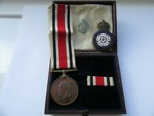 More details for special constabulary medal george v sturdy. with enamel badge