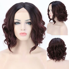 Fashion Bob Short Wavy Synthetic Lace Front Wigs Heat Resistant Hair Full Wig #k